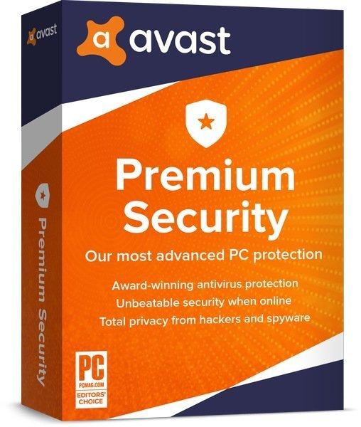 AVAST Software Avast Premium Security (лицензия на 1 год), for Windows 1 PC, aps-1-12m