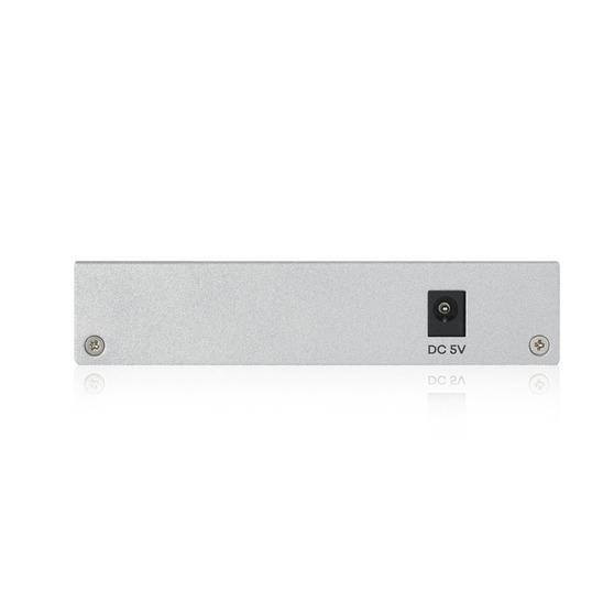 Zyxel Smart коммутатор GS1200-5, 5xGE, настольный, бесшумный, с поддержкой VLAN, IGMP, QoS и Link Aggregation