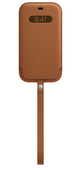 Apple iPhone 12 Pro Max Leather Sleeve with MagSafe Saddle Brown Кожанный чехол MagSafe для iPhone 12/12 Pro Max золлтисто- коричневого цвета Чехол A
