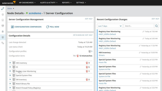 SolarWinds Server Configuration Monitor