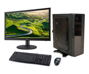Компактный мини ПК SL Computers SL Mini 102 с монитором, клавиатурой и мышью