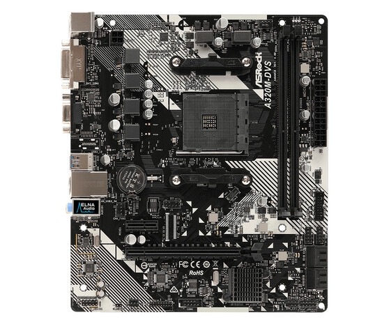 Материнская плата ASRock AM4 AMD A320 A320M-DVS R4.0