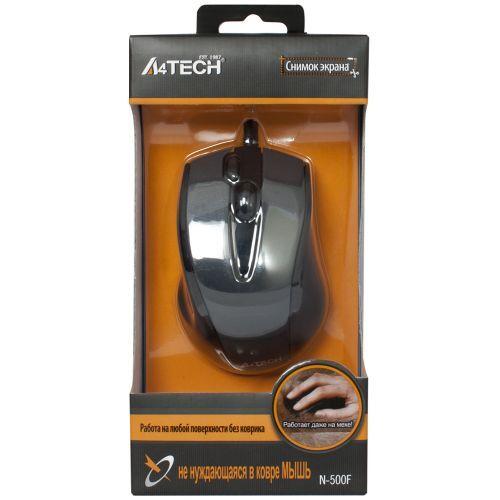 Мышь A4tech V-Track Padless N-500F, цвет черный