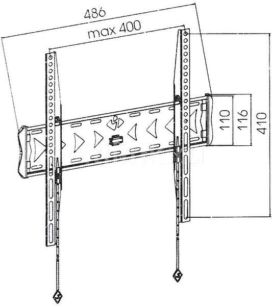 Кронштейн Kromax FLAT-3