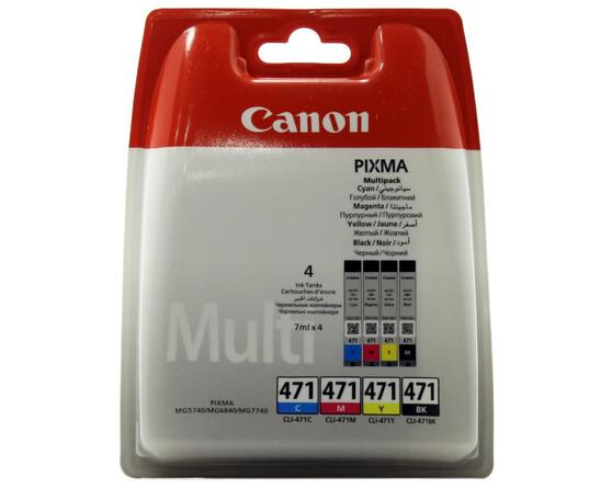 Картридж голубой, пурпурный, желтый, черный Canon CLI-471, 0401C004