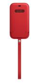 Apple iPhone 12 | 12 Pro Leather Sleeve with MagSafe (PRODUCT)RED Кожанный чехол MagSafe для iPhone 12/12 Pro красного цвета Чехол Apple iPhone 12 |