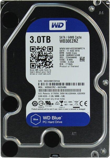 Жесткий диск  Western Digital Blue 3.5 EZRZ 3TB 5.4K SATA3
