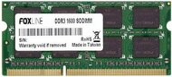 Оперативная память Foxline Laptop DDR3 1600МГц 8GB, FL1600D3S11-8G, RTL