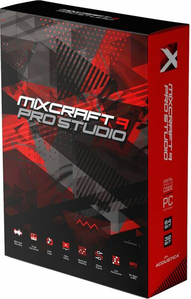 Acoustica, Inc. Mixcraft Professional Studio w/o Melodyne (обновление для версии 9), стоимость 1 лицензии, AC-90PRO-SL1000UP