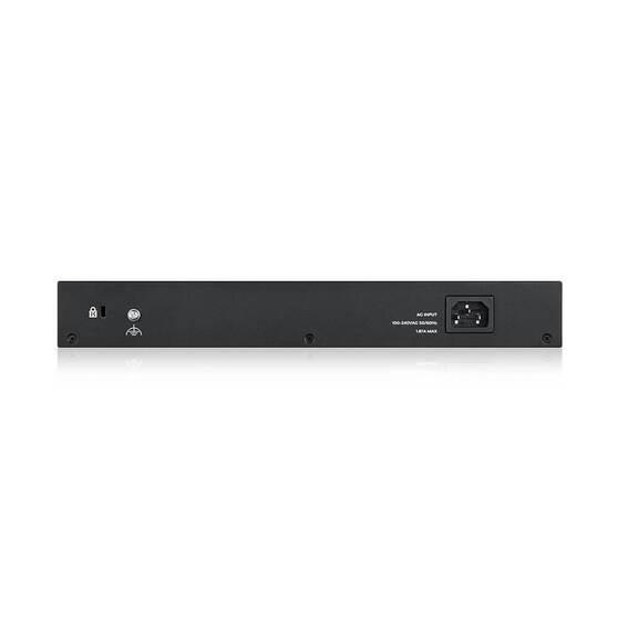 "Smart L2 коммутатор PoE+ Zyxel GS1900-24EP, rack 19"", 24xGE (12xPoE+), бюджет PoE 130 Вт"