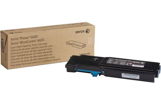 Фото товара Phaser 6600/WorkCentre 6605, голубой тонер-картридж повышенной емкости