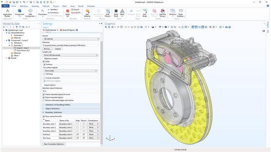 Модуль «File Import for CATIA® V5» для программы COMSOL Multiphysics®