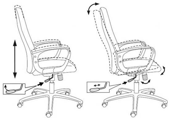 Кресло руководителя Бюрократ  CH-808AXSN