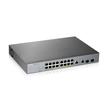 Купить GS1350-18HP L2 коммутатор PoE+ для IP-видеокамер Zyxel GS1350-18HP, rack 19 , 16xGE PoE+, 2xCombo (SFP/RJ-45),