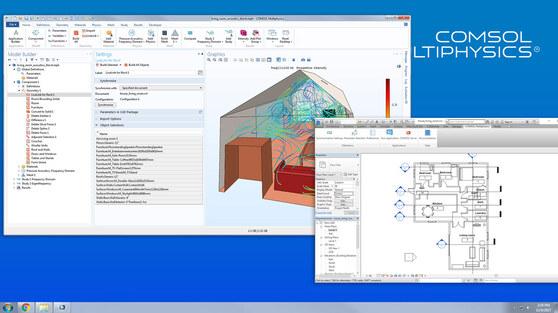 Модуль «LiveLink™ for Revit®» для программы COMSOL Multiphysics®