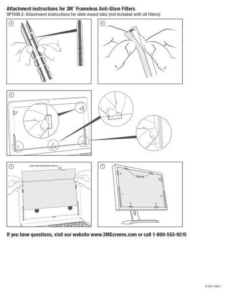 """Экран защиты информации для ноутбука 3M PF170W1B (7000013838) 17"""" черный"""