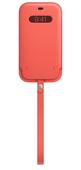 Apple iPhone 12 Pro Max Leather Sleeve with MagSafe Pink Citrus Кожанный чехол MagSafe для iPhone 12/12 Pro Max цвета розовый цитрусЧехол Apple iPhon