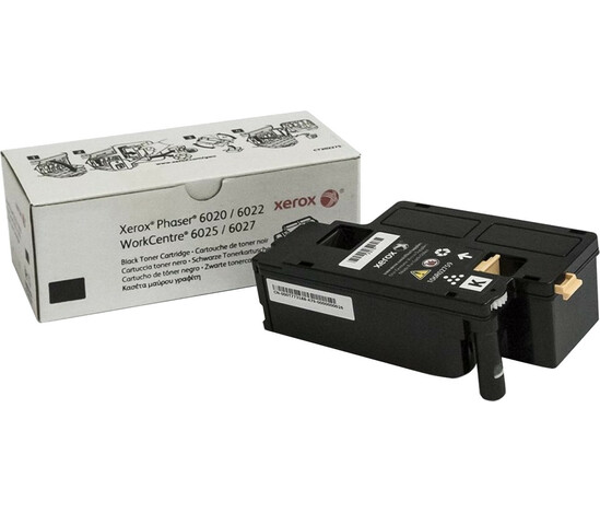 Phaser 6020,6022/WorkCentre 6025,6027, черный тонер-картридж стандартной емкости