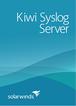 Kiwi Syslog Server 9 SolarWinds
