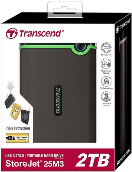 Внешний HDD TRANSCEND Portable StoreJet 25M3 2TB