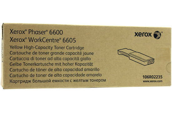 Фото товара Phaser 6600/WorkCentre 6605, желтый тонер-картридж повышенной емкости