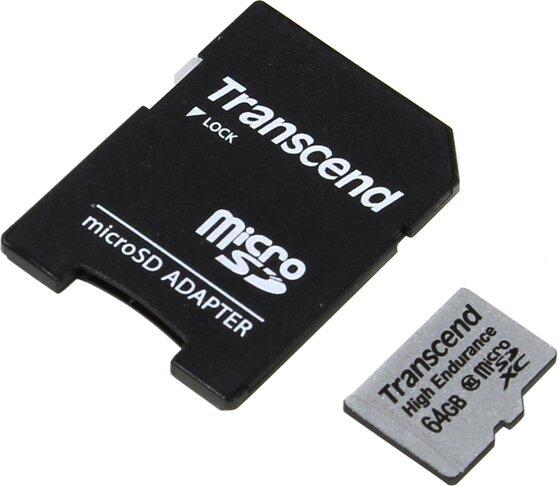 Карта памяти TRANSCEND MicroSDHC 64GB