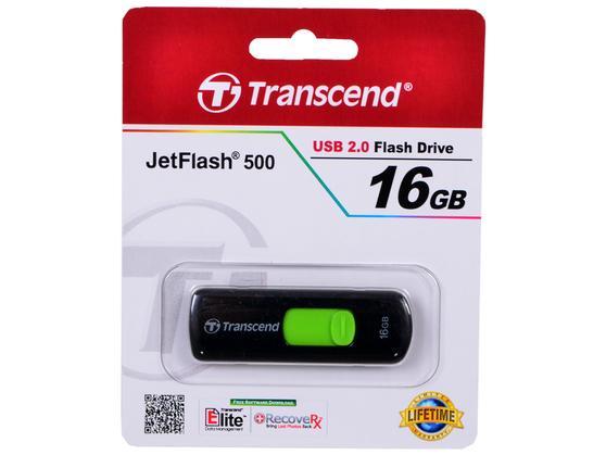 Флешка TRANSCEND JetFlash 500 16GB