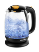 Купить Чайник электрический Kitfort КТ-625-4 1.7л. 2200Вт черный/желтый (корпус: стекло)