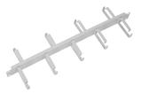 Купить Кабельный органайзер Горизонтальный ЦМО ГКО-1-9 двухсторонний кольца 1U шир.:19 глуб.:154.2мм