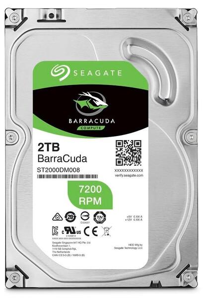 Жесткий диск  SEAGATE Barracuda 3.5  2TB 7.2K SATA3