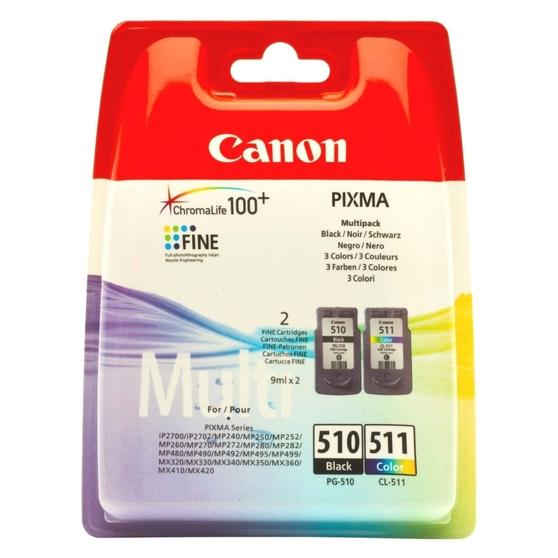 Картридж черный, голубой, пурпурный, желтый Canon PG-510/CL-511, 2970B010