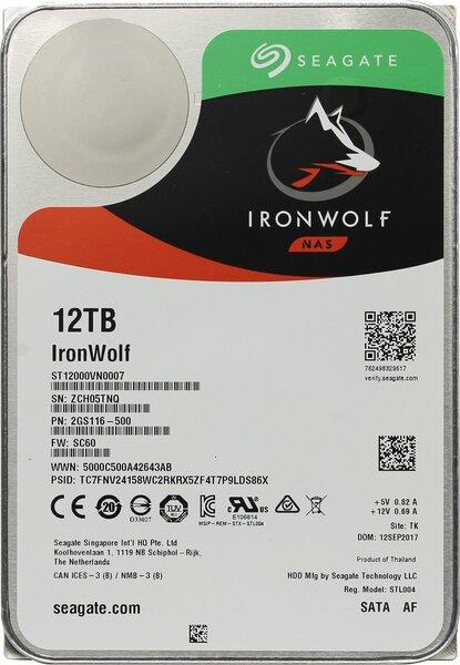 Жесткий диск  SEAGATE Ironwolf 3.5  12TB 7.2K SATA3
