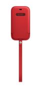 Apple iPhone 12 mini Leather Sleeve with MagSafe (PRODUCT)RED Кожанный чехол MagSafe для iPhone 12 mini красного цвета Чехол Apple iPhone 12 mini Lea