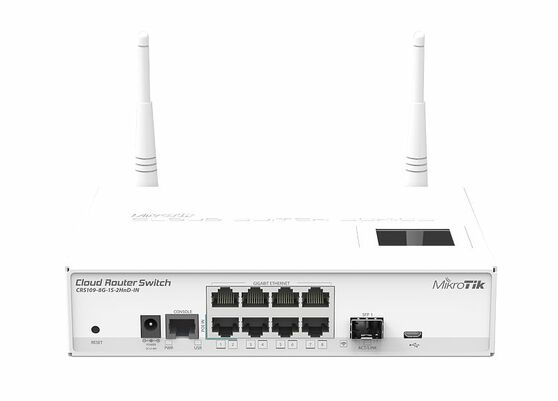 Коммутатор MikroTik CRS109-8G-1S-2HND-IN