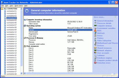 Asset Tracker for Networks