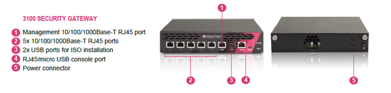 Шлюз безопасности Check Point 3100 (CPAP-SG3100-NGTX-SSD)