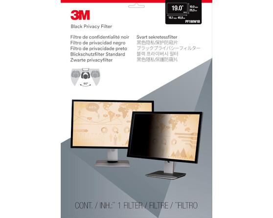 """Экран защиты информации для монитора 3M PF190W1B (7000013839) 19"""" черный"""