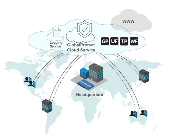 Palo Alto Networks, Inc. GlobalProtect cloud Service for mobile users, tier A, 3-Year, TP, Url, WF, GP, includes Premium Support, per user, PAN-GPCS-USER-A-3YR