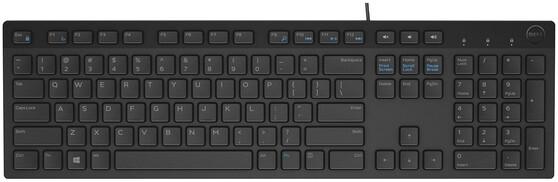 Клавиатура DELL KB216 580-ADGR, цвет черный