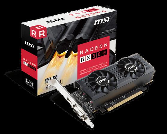 Видеокарта MSI Radeon RX 550 4 ΓБ Retail