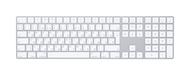 Клавиатура Apple Magic Keyboard with Numeric Keypad MQ052RS/A, цвет серебристый
