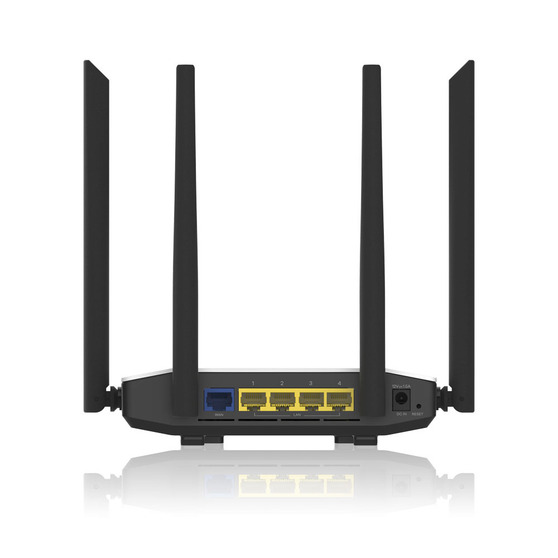 Wi-Fi роутер ZYXEL NBG6615 Dual-Band Wireless Gigabit Router AC1200, AC Wave 2, MU-MIMO, 802.11a/b/g/n/ac (400+867 Mb/s), 1xWAN GE, 4xLAN GE  (w/o L2TP)