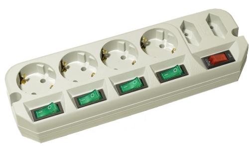 Сетевой фильтр Most Сетевой фильтр ARG 1.6м (6 розеток)
