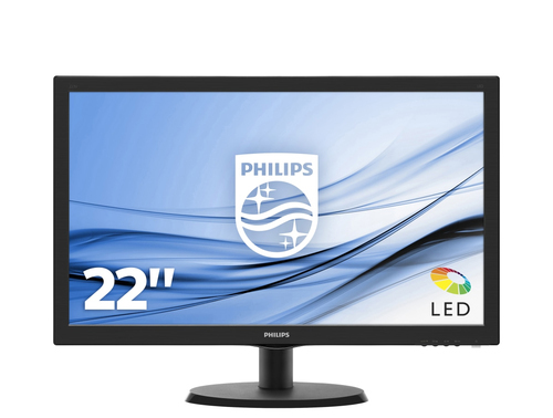 Монитор Philips 243V5QHABA 23.6-inch черный
