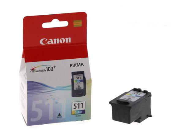 Картридж голубой, желтый, пурпурный Canon CL-511CMY, 2972B007