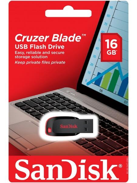 Флешка SanDisk Cruzer Blade 16GB