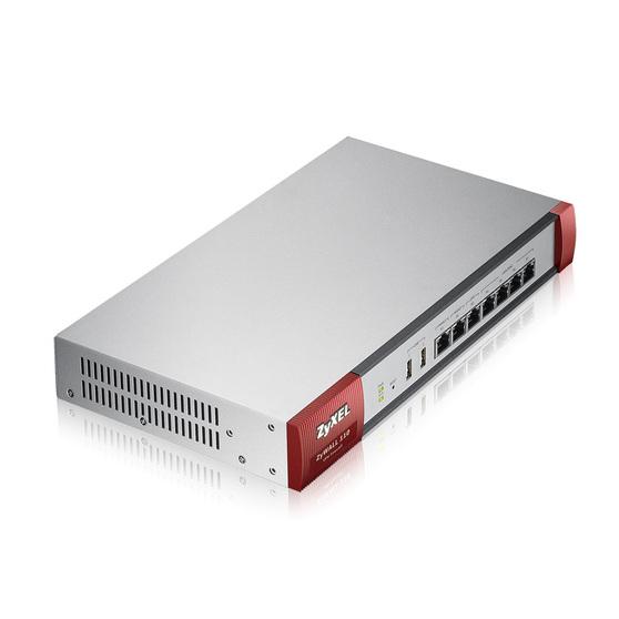 ZYXEL ZyWALL 110 7xGbE 2xWAN, 1 WAN/LAN/DMZ, 4xLAN/DMZ, 2xUSB c поддержкой 3G модемов, встроенный контроллер WLAN (от 2 до 34 точек доступа при актива
