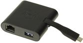 Dell™ Adapter DA200 (USB-C — HDMI/VGA/Ethernet/USB 3.0)