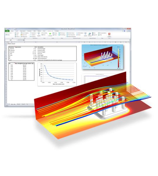 Модуль «LiveLink™ for Excel®» для программы COMSOL Multiphysics®