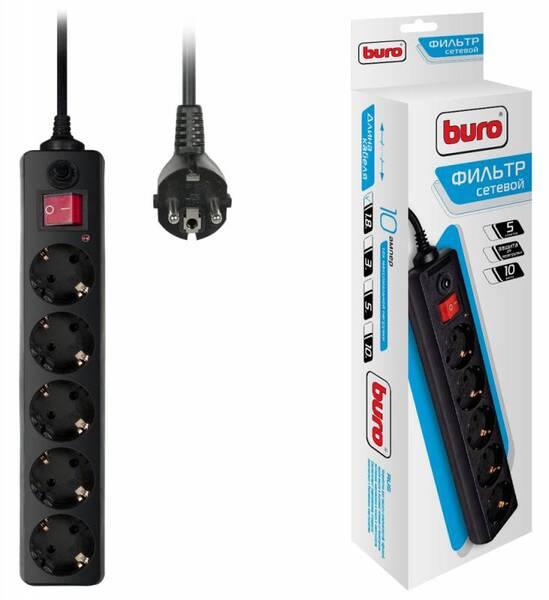 Сетевой фильтр Buro Сетевой фильтр 500SH-1.8-B